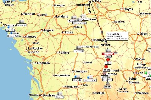 Les véhicules des Transports MARTY sont géolocalisés : vos marchandises sont tracées en temps réel !