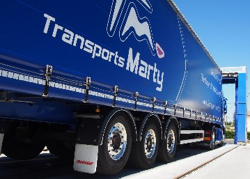 Remorque tautliner - Transports MARTY